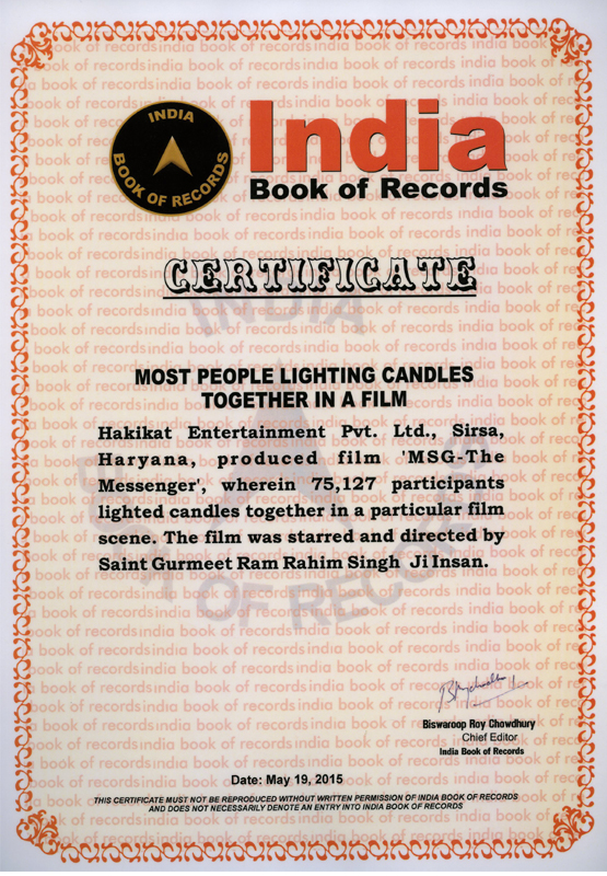 Most participants lighted candles together in a particular film scene
