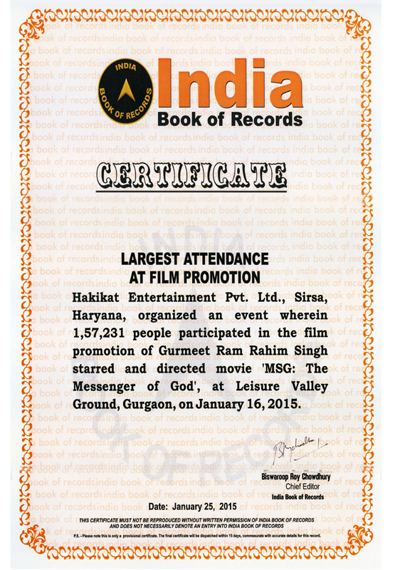 People participated in the promotion of MSG The Messenger film