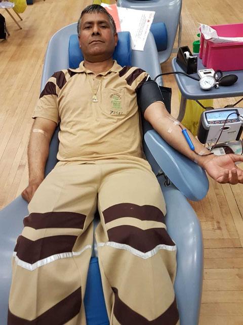 Blood Donation by UK Volunteers