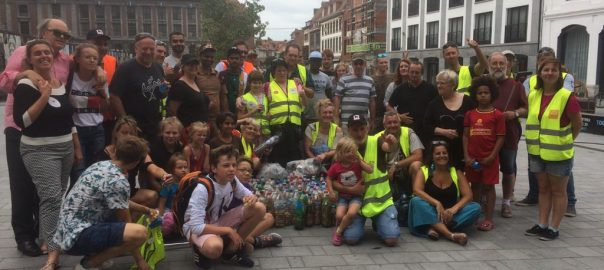 DSS Volunteers from 4 countries, participate in a Cleanliness Drive held in Tournai, Belgium
