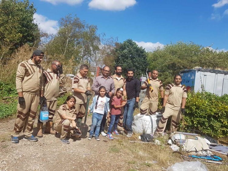 Green 'S' Volunteers conduct Tree Plantation Drive in London, UK celebrating Birthday of True Master Saint Dr. MSG