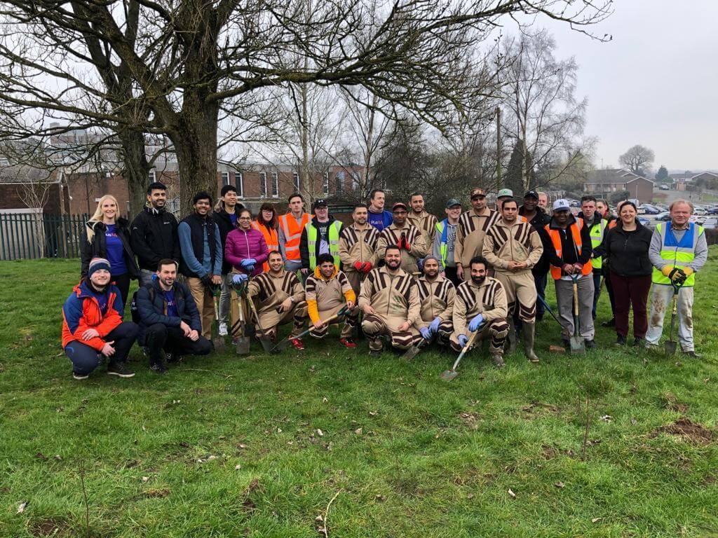 Tree Plantation Drive by DSS volunteers in Birmingham