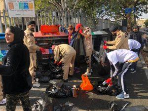 Sadh Sangat runs a public cleaning campaign in UK.
