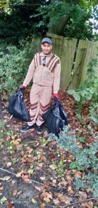 Cleaning campaign in Walpole Park Ealing in London 2019