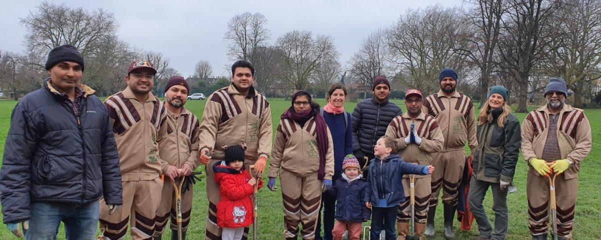 UK Sadh Sangat Tree Planting 25 Jan 2020