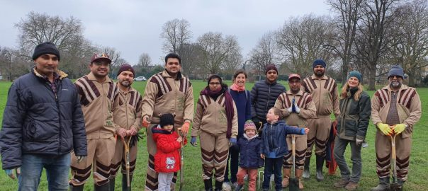 UK Sadh Sangat Tree Planting 25 Jan 2020